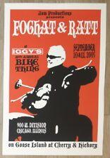 2005 Foghat & Ratt - Chicago Silkscreen Concert Poster by Steve Walters