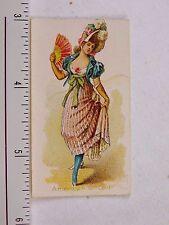 Kimball & Co Cigarette Tobacco Card Dancing Women American 18th Centy F54
