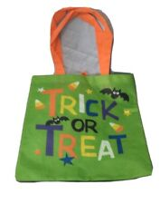 Halloween Trick Or Treat Bag Light Weight Reusable Tote 12 x13 inch