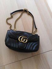 Gucci Gg crossbody  Marmont calfskin small black leather Shoulder bag