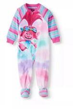 Trolls Toddler Girls  Footed Blanket Pajamas Sleeper 2T