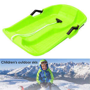 Large Kids Adults Snow Sledge Sleigh Sled Toboggan Pull Rope Downhill Board