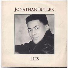 JONATHAN BUTLER - Lies - VINYL 45 RPM 1987 NEAR MINT CONDITION PROMO WHITE LABEL