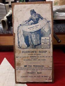 Rare HudsonsSoap Crate lid#Vintage Advertising#kitchenalia#Original#