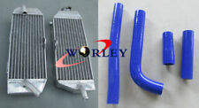 ALUMINUM RADIATOR + BLUE HOSE FOR YAMAHA WR400F 1998-2000 98 99 00 1999 WR 400 F
