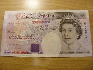Twenty Pounds Banknote GEA Kentfield K37 443471, Used still crisp nice num note