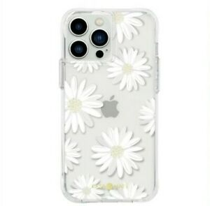 CASE-MATE Gold Pink Marble Glitter Flowers iPhone 13 PRO MAX Square Hard Case