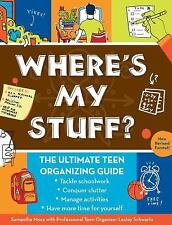 WHERE'S MY STUFF? THE ULTIMATE TEEN ORGANIZING GUIDE BOOK, SAMANTHA MOSS SCV VGC