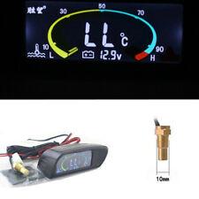 12V/24V Car 2 in 1 LCD Digital Display Voltmeter Water Temp Temperature Gauge