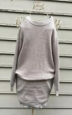 JOA Los Angeles Womens Sweater Dress Cut Out Cold Shoulder Size S