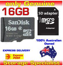 SanDisk Genuine micro SD 16GB SDHC class 4,SD adapter, 16G memory card microSD