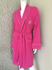 RALPH LAUREN PINK SOFT COTTON ROBE DRESSING GOWN SIZE S UK 10 RETAIL £99