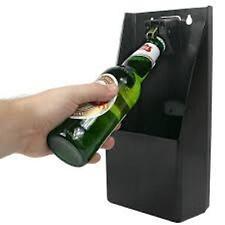 Bottle Opener & Cap Catcher Professional Kit  Wall Mounted Bar Pub B3522