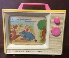 Vintage 1971 Disney Productions Fisher Price Winnie the Pooh Music Box TV Toy