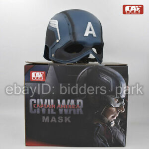 CATTOYS 1/1 Captain America WEARABLE Helmet Replica VETERAN PAINTED Version Mask