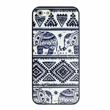 Thai Indian Elephant Aztec Pattern Blue Hard Case Cover for Apple iphone 5 5S