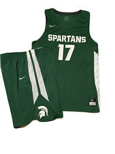 NWT Mens Nike Dri FIT MICHIGAN STATE SPARTANS BASKETBALL JERSEY AND SHORTS SZ L