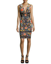 Roberto Cavalli Sleeveless Floral Sheath Dress Orig:$1190.00 Size 46 IT (10 US)