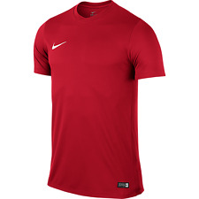 Mens Kids Nike Football Rugby Sports Match Training T Shirt Top Jersey Park VI Medium Youth 28/30 Red