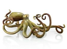 Octopus with Tan Patina Finish - Brass - Free Shipping