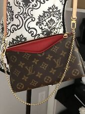 Louis Vuitton Monogram Canvas Pallas Clutch Crossbody NWT