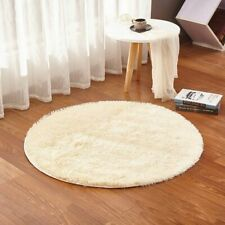 Non-Slip Plush Bathroom Carpet Solid Toilet Foot Pad Round Eco-Friendly Home Rug