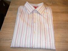 s.Oliver Herrenhemd,weiß rot blau Kurzarm,Gr.L XL  Neuwertig