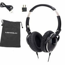 Heavy Deep Bass MonoDeal ANC-J1 Active Noise Cancelling Overhead Headphones Mic