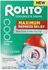 6 Упаковка Rohto охлаждения глазные капли максимальное покраснение рельеф, смазывает, 0.4 унций (примерно 11.34 г.) каждый