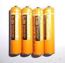 4Pack Original Panasonic AAA HHR-55AAABU 550mAh Ni-MH Rechargeable Batteries