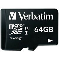 VERBATIM MICROSDXC CARD 64GB PREMIUM CLASS 10 UHS-I INKL. SD-CARD ADAPTER
