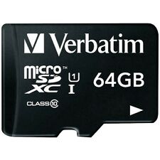 VERBATIM MICROSDXC CARD 64GB PREMIUM CLASS 10 UHS-I INKL. SD-CARD ADAPTER