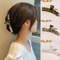 Large Acrylic Barrette Acetate Hair Claws Leopard Print Hairpins Hair Clip Women