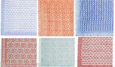 50 Cotton Hand Block Print Scarves Sarongs Pareo Hijab Wrap beach wear SC10 U
