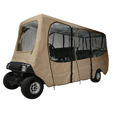 Classic Accessories Fairway Golf Cart Deluxe Enclosure  Khaki  Extra Long Roof