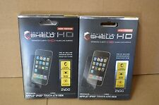 Lot of 2 Zagg Invisible Shield HD Screen Protector Apple iPod Touch 4th Gen
