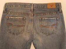 Women's American Eagle Jeans Hipster Skinny flare Size 4P  (B58)