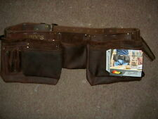 Kuny's 19427 Oil Leather Construction Apron 12 Pocket double tool pouch