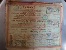 Action Canal de Panama - Titre provisoire au porteur