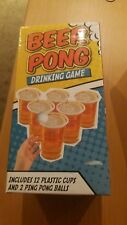 Plastic Beer Pong Adult Alcohol Party Drinking Game with 12 Cups