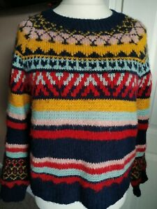 Gorgeous Urban Outfitters Nordic Wool Jumper Striped Multicoloured Size S