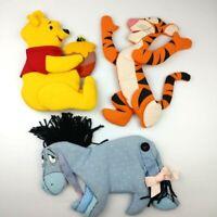 Vintage Silgo Winnie The Pooh & Walt Disney Prod Tigger & Eeyore Plush Wall Hang