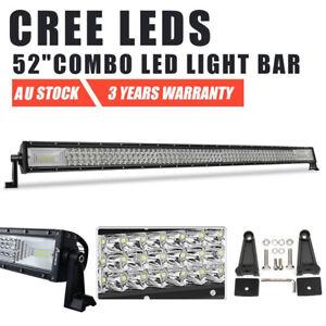 "52inch CREE LED Work Light Bar SPOT FLOOD COMBO Beam Driving 4WD SUV Truck 50"""