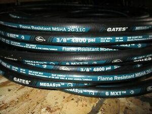 "GATES HYDRAULIC HOSE 6MXT 3/8"" 50' FEET TWO WIRE HOSE SAE 100R16 4800 PSI"