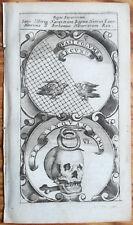 Typotius Symbola divina Emblemata Emblem Bird Skull - 1666