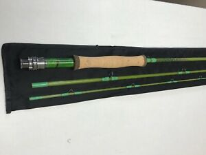 Custom Built 3pc 7'- 3wt. fiberglass fly rod , feather inlays with sock.