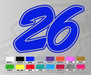 3 X Custom Racing Numbers - Vinyl Stickers Decals Race Motorbike Mx Trackday