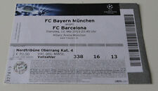 Ticket for collectors CL Bayern Munchen FC Barcelona 2015 Germany Spain