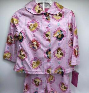 Toddler Girls Size 2T Disney Princess 2-Piece Pajama Set $32 Value Cute New