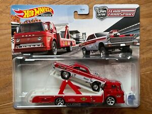 HOT WHEELS TEAM TRANSPORT 1965 MERCURY COMET CYCLONE & FORD C-800